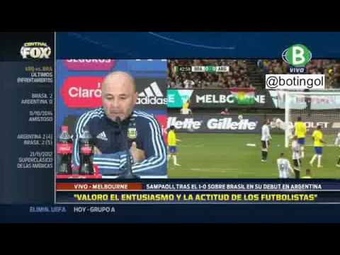 "Sampaoli post Brasil 0-1 Argentina: ""No sufrimos defensivamente"""