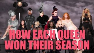 Explaining How/Why Each Queen Won Their Season
