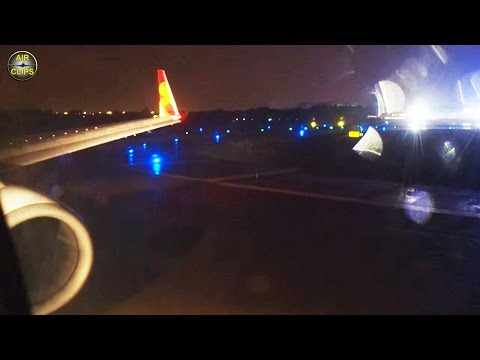 Hainan Airlines Boeing 737-800 Night Takeoff from Hangzhou to Beijing [AirClips]