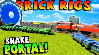 SUMMONING SNAKES THROUGH A PORTAL? - Brick Rigs Gameplay Roleplay - Lego Train Crashes!