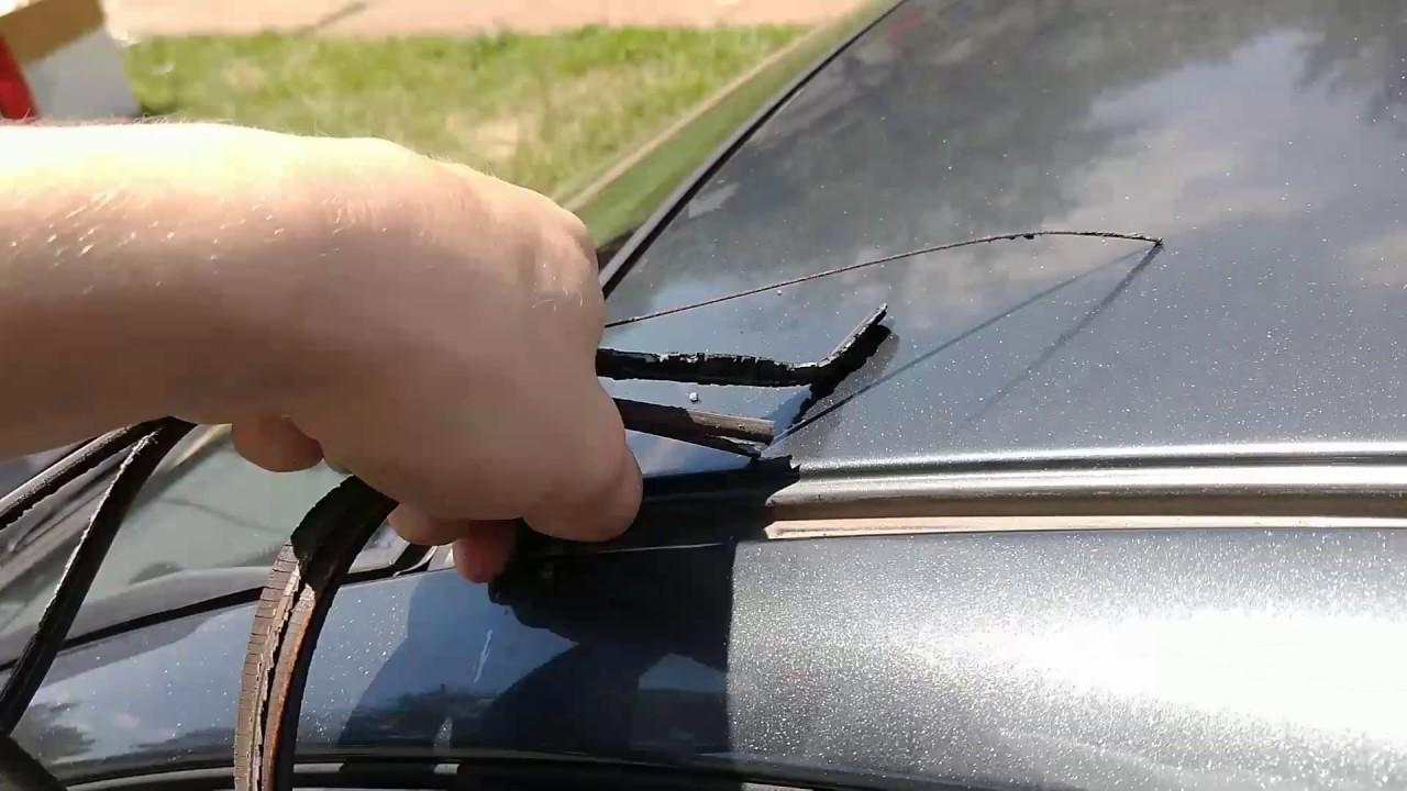 Replacing Roof Drip Molding 2007 Toyota Yaris Youtube