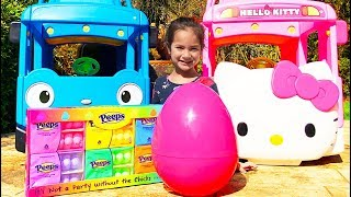 Easter Egg hunt with Hello Kitty bus
