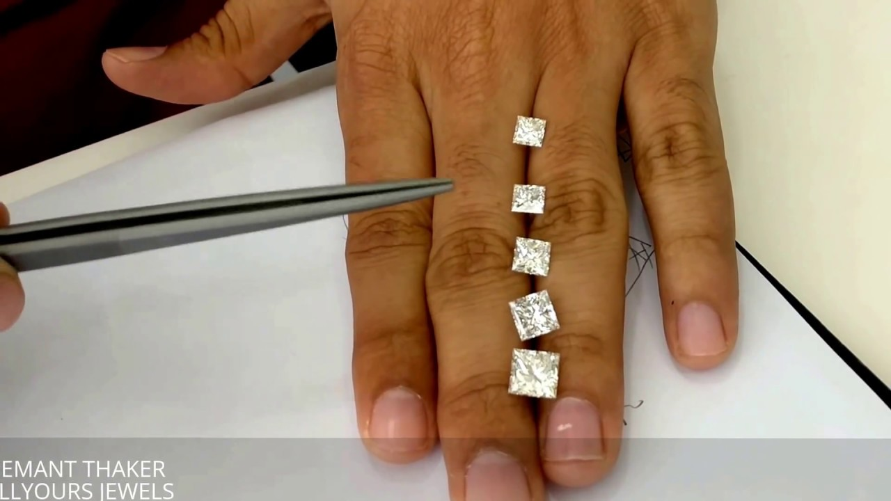 Princess Cut Diamond Size Comparison On Hand 1ct Untill 3
