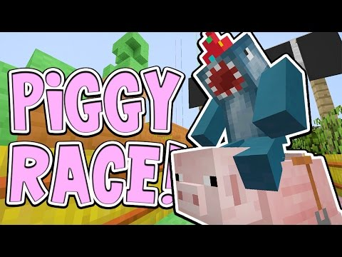 Minecraft Xbox - PIGGY RACE!! - Building Time [#75]