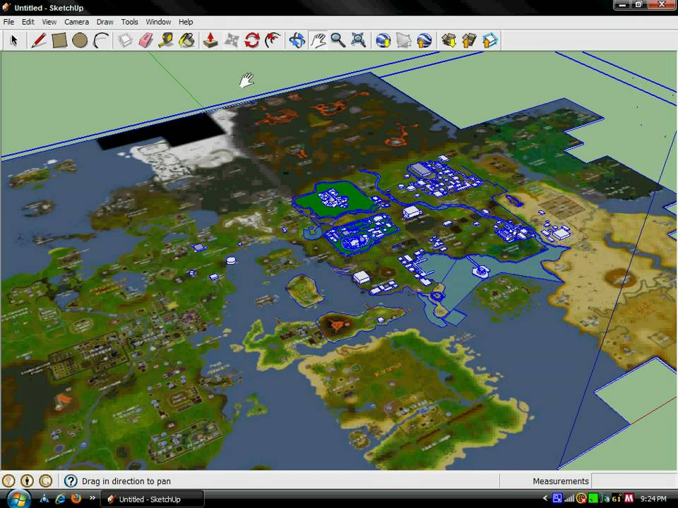 Google Sketchup 7 - RuneScape World Map (**TRANSLATED**) - YouTube