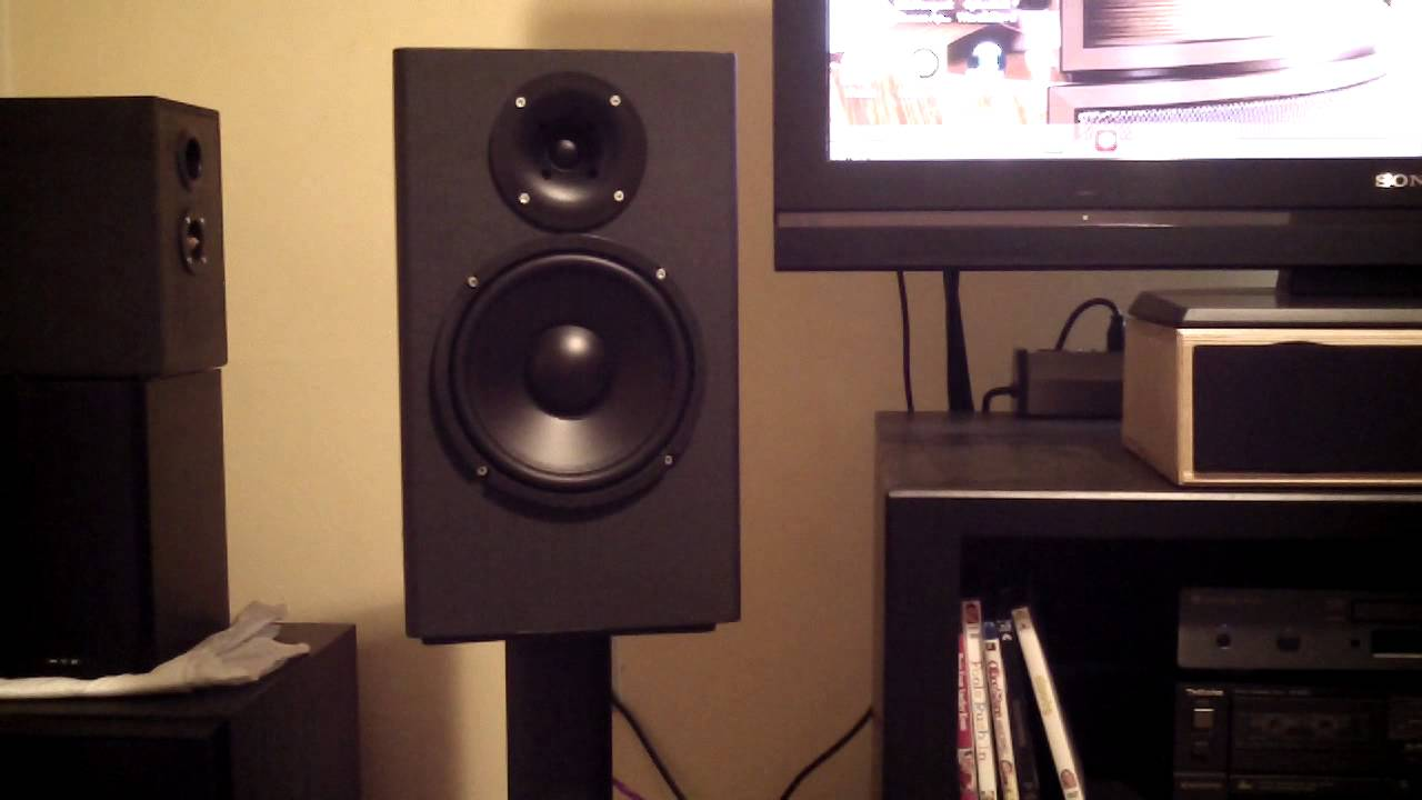 Speaker Audition Review Large Horn Loaded 8 Bookshelf Speakers HQ Stereo HD