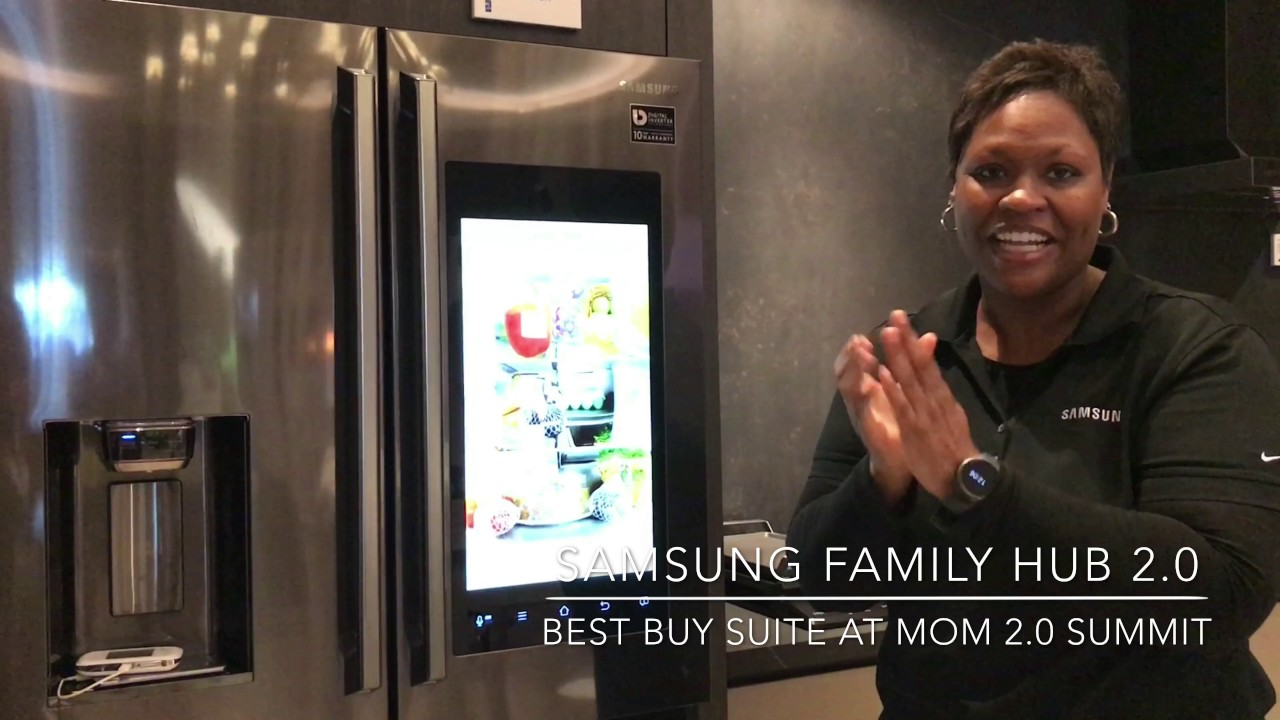 samsung family hub 2 0 demo youtube. Black Bedroom Furniture Sets. Home Design Ideas