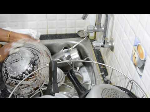 How to Cleaning Kitchen Vessels | Clean up greasy kitchen utensils