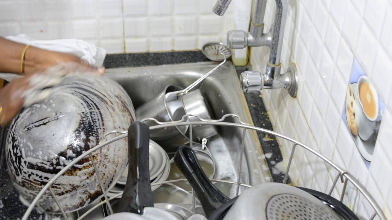 Clean Up Kitchen Sink