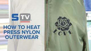 How to Heat Press Nylon Outerwear