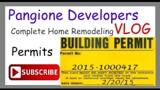 New Home Renovations Vlog - Picking Up The Permit For Major Renovation