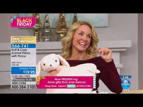 Thumbnail: Soft Cozy Animal Pillow with Throw