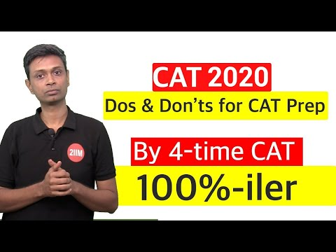 Dos and Don'ts for your CAT Preparation
