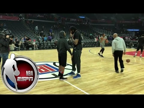 Chris Paul warms up, speaks with Clippers ex-teammates and fans | ESPN