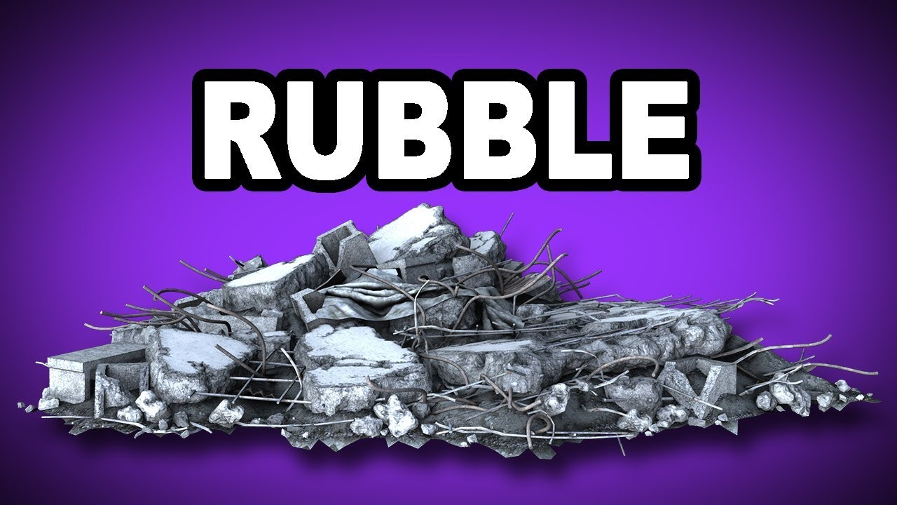 Learn English Words Rubble Meaning Vocabulary With Pictures And