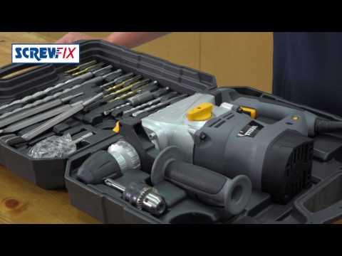 Titan TTB631SDS 5KG SDS+ Drill with 22 Acc's 240v ¦ Screwfix