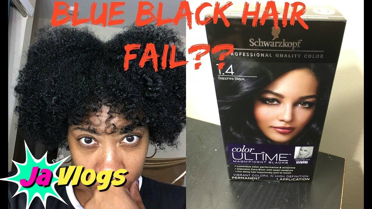 schwarzkopf sapphire black hair