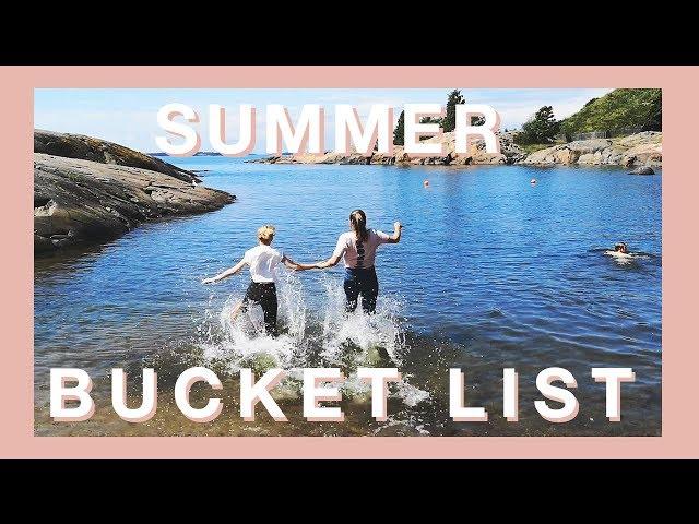 Nyt toteutetaan summer bucket list!
