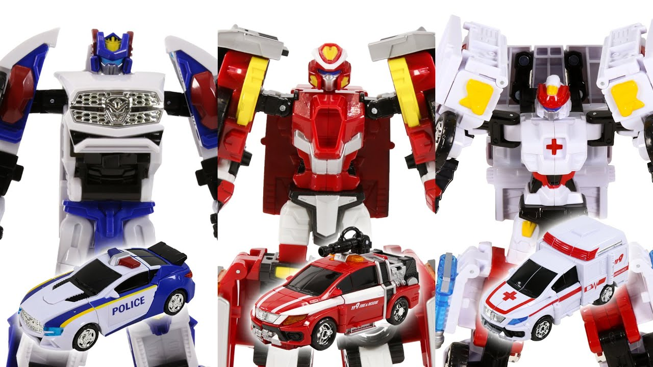 HelloCarBot New PentaStormX Returns Dandy Ace Fron Rescue Police Ambulance Vehicles Transformation