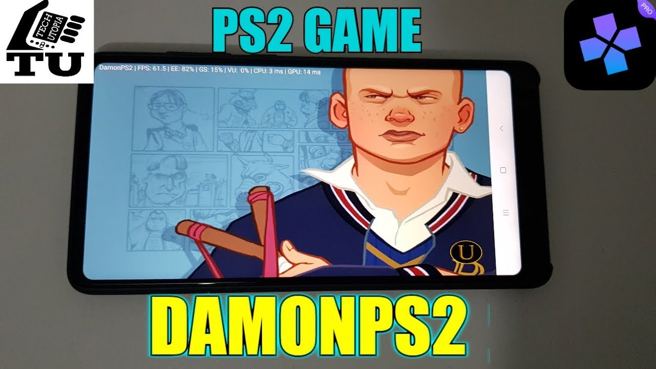 Bully PS2 version on Android smartphone/DamonPS2 emulator/PS2 games/Updated/English/Video/2017