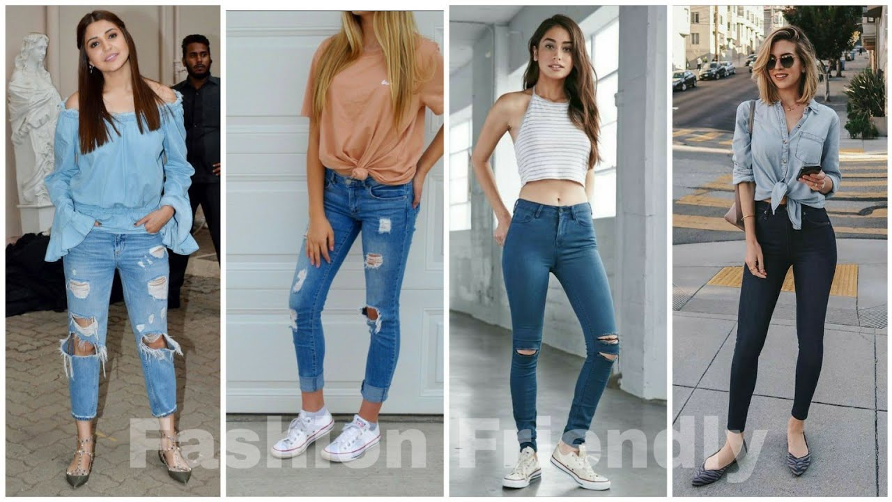 Jeans outfit ideas for college going