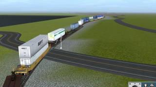 Virtual Railfanning Trainz 12 Simulator: NYSW SU-268 with CN and ATSF power 6/26/2017