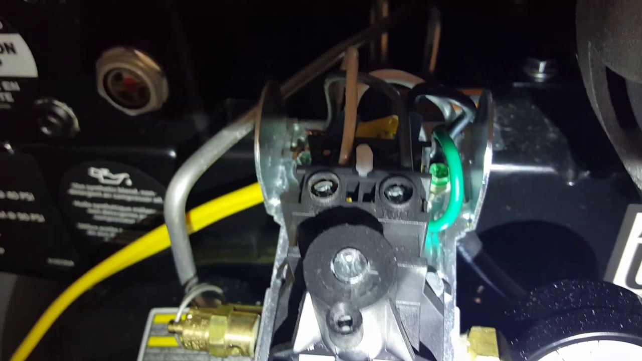 Husky Air Compressor Pressure Switch Wiring Diagram Husky 60 Gallon Home Depot Air Compressor Adjustment Youtube