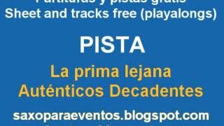 Partitura y pista de La prima Lejana - Sheet music and playalong