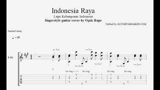 Indonesia Raya TAB - acoustic fingerstyle guitar tab - PDF - Guitar Pro