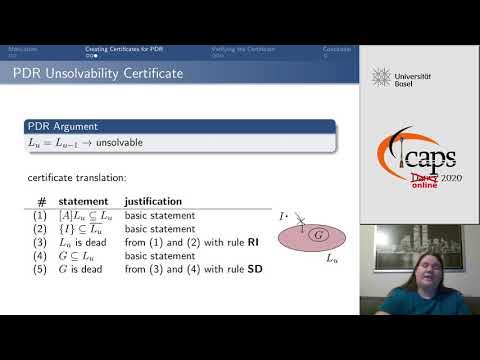 "ICAPS 2020: Eriksson et al. on ""Certified Unsolvability for SAT ..."""