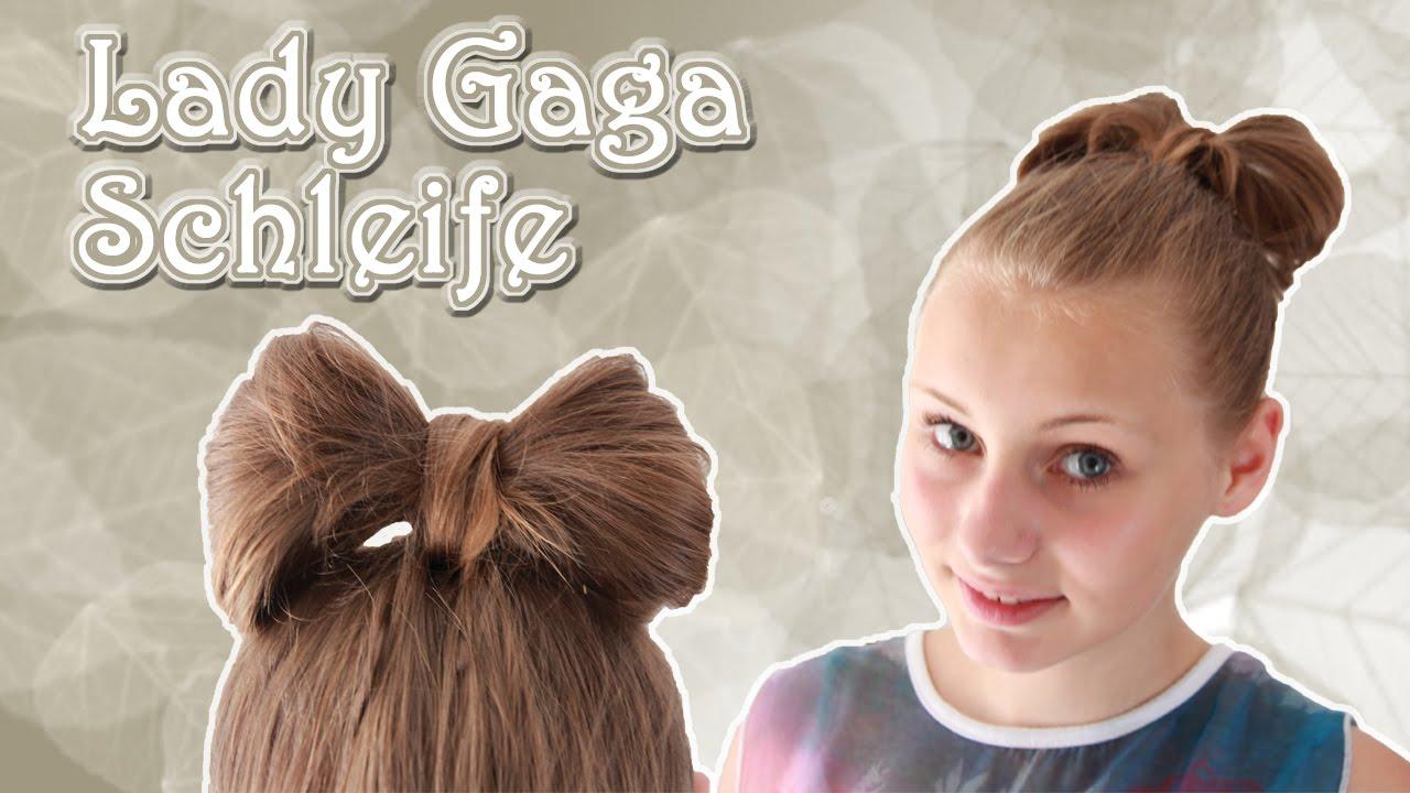 tutorial lady gaga schleife mit den eigenen haaren