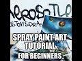 Spray Paint Art Tutorial For Beginners