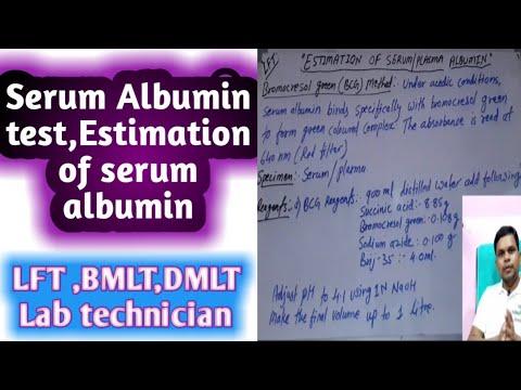 Estimation Of Serum Albumin   LFT   Serum Albumin Test