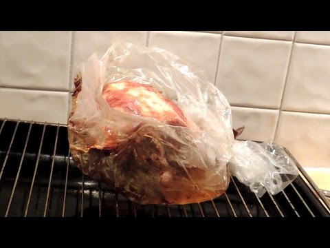 Pork Shoulder Cooked In Oven Bag, A Plastic Bag Used For The Roasting Of Meat