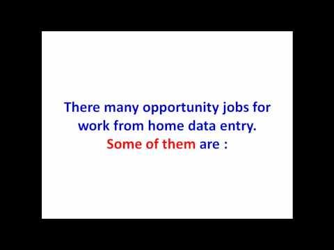 Opportunity in Online Data Entry Jobs