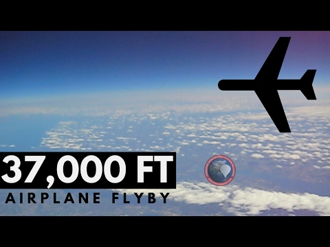 Audible Plane Flyby at 37,000 FT | Weather Balloon | OLHZN-2