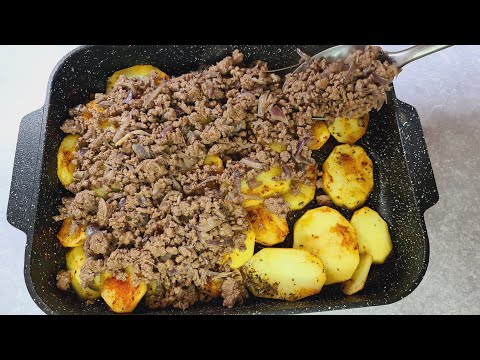 Quick and delicious dinner recipe  with ground beef and potatoes   YUMMY RECIPES