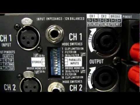 Stage Left Audio - Bridging a QSC amplifier