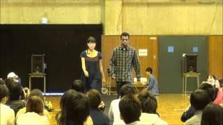 2011年10月29日の桜美林大学祭で行われたFACEのフェアトレードファッシ...