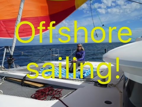 "Sailing Offshore in the Pacific Ocean, Ep 18 ""Off the Starboard Hull"", Lagoon 400S2 catamaran"