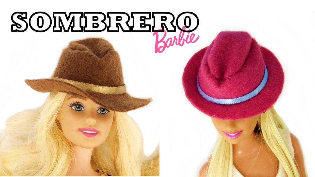 Cómo Hacer Facil Sombrero para Barbie y Otras Muñecas Manualidades Paso a  Paso House Toy en Español 37722cee8e0
