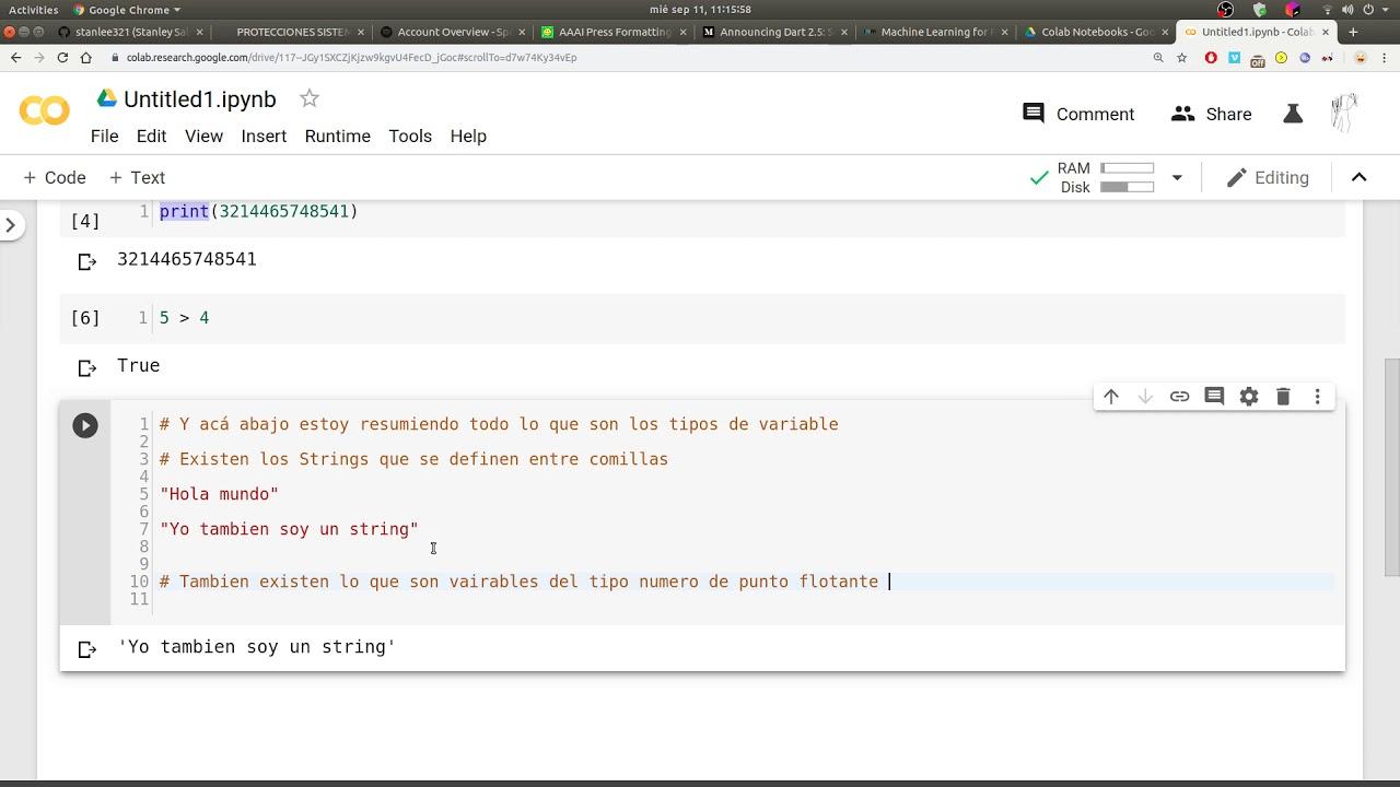 Download Introduccion a Python I y Google Colab