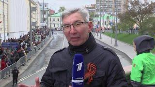 Военная техника, принявшая участие в параде на Красной площади, возвращается в места дислокации.