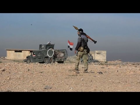 Iraq forces press assault on IS south of Mosul