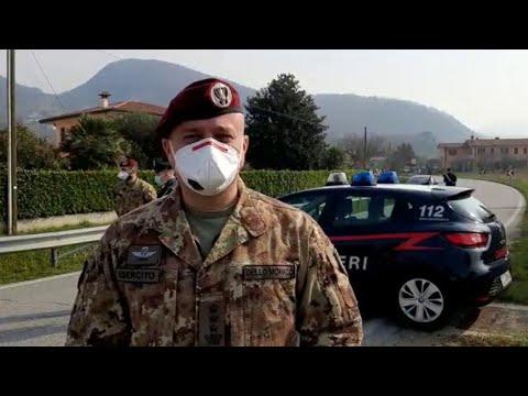 Coronavirus, al posto di blocco di Vò: i ciclisti non sanno dell'emergenza