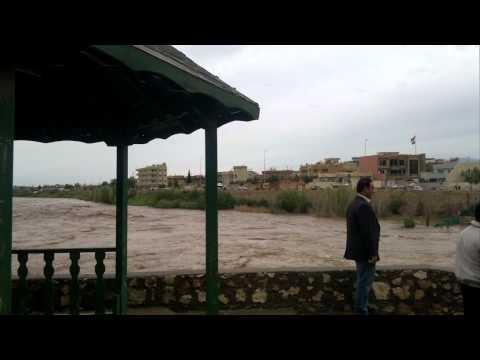 ZAKHO  - KHABOOR River flood  21-4-2011
