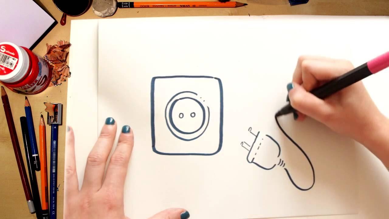 Como dibujar un enchufe de energ a el ctrica dibujos - Como pintarse bien ...
