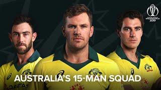 Australia announce World Cup squad