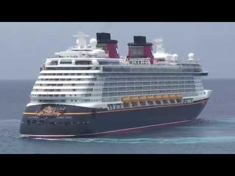 """Disney Magic"" and ""Disney Dream"" Encounter at Castaway Cay on May 21, 2013"