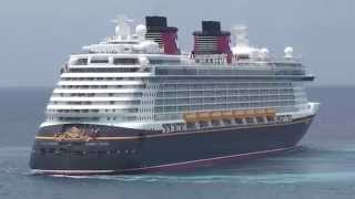 """Disney Magic"" and ""Disney Dream"" Encounter at Castaway Cay on May 21, 2013"